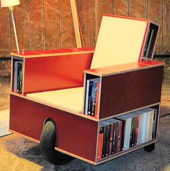 Altholz und neues design for Design lesesessel